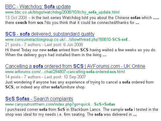 Bad SEO reputation SCS
