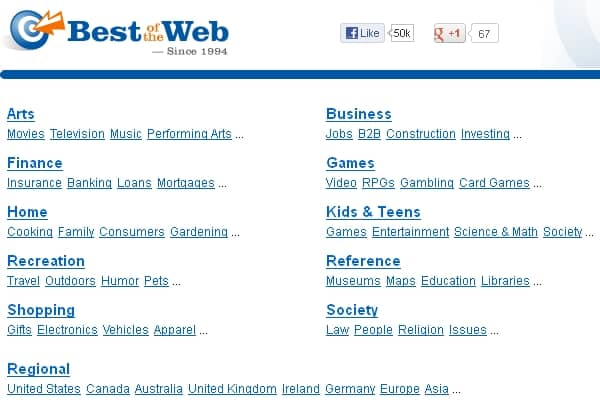 Good Web Directories