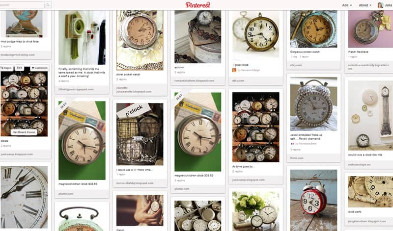 Pinterest Clocks