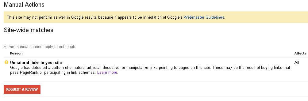 Google penalty Manual-Spam-Action-Unnatural-Links