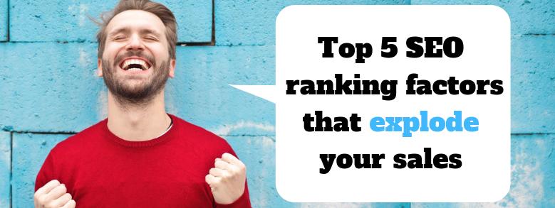 seo rankings factors 2019