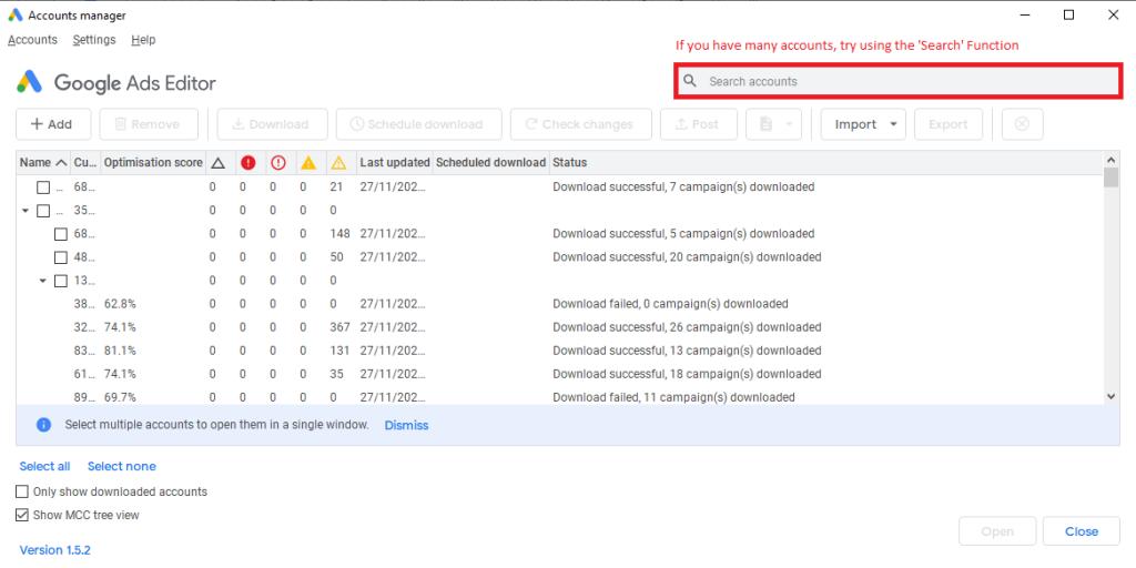 google ads bulk editor tutorial