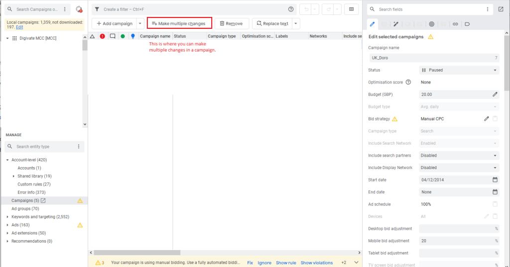 google ads editor tutorial